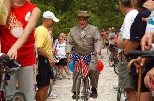 Truman on Bike