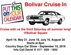 Bolivar Cruise In